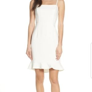 French Connection Ruffle Light Sheath Dress 6